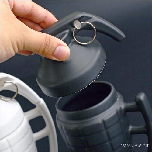 男性向け人気ギフト雑貨・手榴弾型のマグカップ(磁器)
