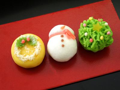 京菓匠七条甘春堂・梅月堂・平井製菓のお取り寄せクリスマス和菓子