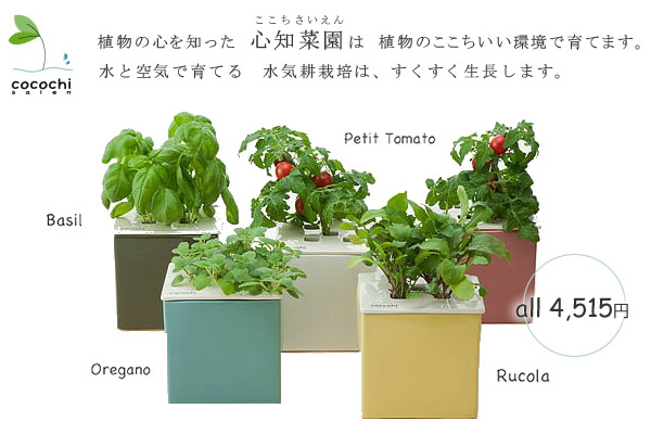 5種類の心知菜園