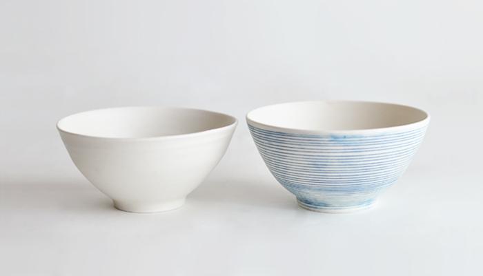 threetoneの粗磁土のお茶碗