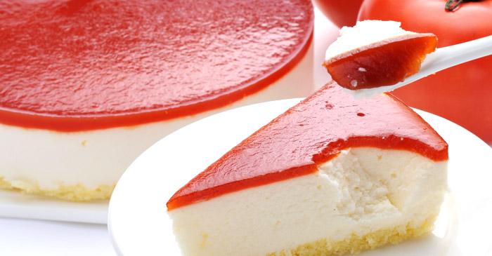 トマトグラサージュのカマンベールチーズケーキ