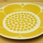 黄色のオーバルプレート
