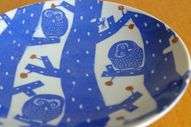 フクロウの七寸皿とその仲間たち