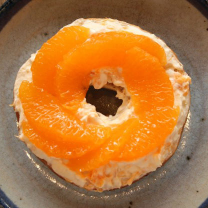 デコポンのクリームチーズサンドほかスイーツ系ベーグルサンドの3つのレシピ
