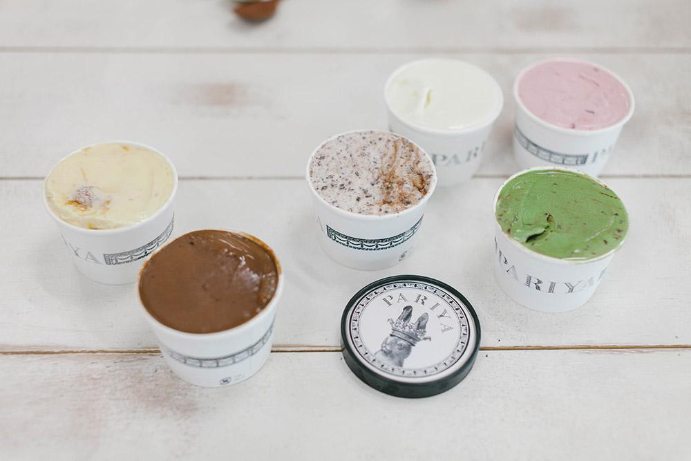 アイスはPARIYAさんで調達!パッケージの可愛さにテンションが上がります。もちろんお味も◎