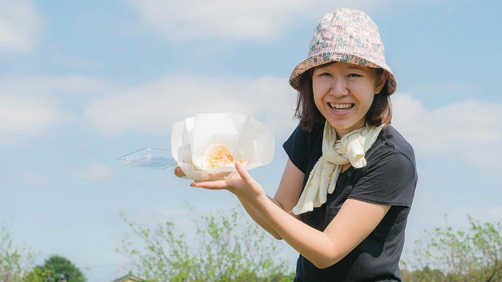 ピーナッツバターで人気の HAPPY NUTS DAY ハッピーナッツデー 収穫体験 お昼休憩