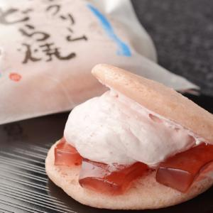 新食感!季節限定・苺のわらび餅入り生クリームどら焼き(静岡)