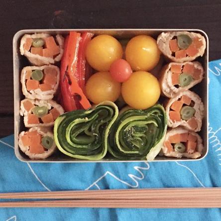 ぐるぐる断面がポイント【3つのお弁当レシピ】ダイエット中の人にもおすすめ